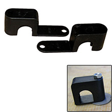 WELD MOUNT Single poly clamp f/1/4 inch x 20 studs - 3/4 inch od - requires 1.75 inch stud - qty. 25