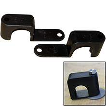 Weld Mount Single poly clamp f/1/4 inch  x 20 studs - 1 inch  od - requires 1.75 inch  stud - qty. 25