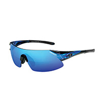 Tifosi Optics Podium xc golf interchangeable sunglasses - clarion mirror collection - crystal blue