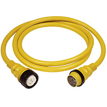 MARINCO 50A 125V Shore Power Cable - 25ft - Yellow