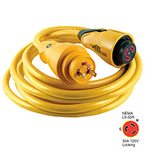 Marinco CS30-25 EEL 30A 125V Shore Power Cordset - 25ft - Yellow