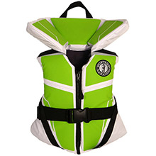 MUSTANG SURVIVAL Lil Legends 100 Youth Vest - 50-90lbs - Green Apple/White