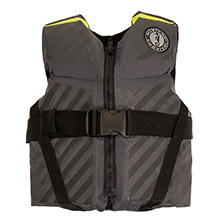 MUSTANG SURVIVAL Lilft Legends 70 Youth Vest - 50-90lbs - Fluorescent Yellow-Green/Gray