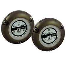 LUMITEC Seablaze mini underwater light - pair - brushed finish - blue non dimming