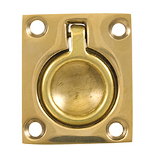 WHITECAP Flush pull ring - polished brass - 1-1/2 inch x 1-3/4 inch