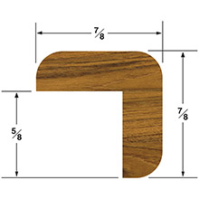 WHITECAP Teak inch l inch molding small - 5 ft