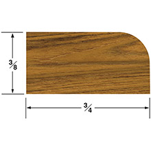 WHITECAP Teak stop molding large - 5 ft