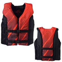 FULL THROTTLE Hinged water sports vest - youth 50-90lbs - red/black
