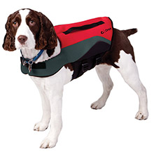 ONYX OUTDOOR Neoprene Pet Vest - X-Large - Red/Grey