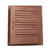 WHITECAP Teak louvered door frame - right hand - 15 inch x 15 inch