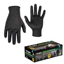 CLC WORK GEAR Black nitrile disposable gloves - box of 100 - x-large