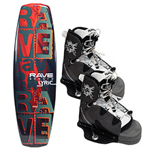 RAVE SPORTS Lyric wakeboard w/advantage boots