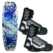 RAVE Sports Freestyle wakeboard w/striker boots