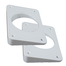 TACO METALS Wedge plates f/grand slam outriggers - white