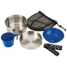 COLEMAN 1person mess kit - stainless steel
