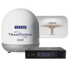 KVH Tracphone v3%2Dip and iridium pilot system bundle