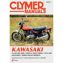 Clymer Kawasaki z   kz 900-1000cc chain and shaft drive (1973-1981) (includes c series police models)