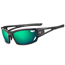 Tifosi Optics Dolomite 2.0 interchangeable sunglasses - clarion mirror collection - gloss black