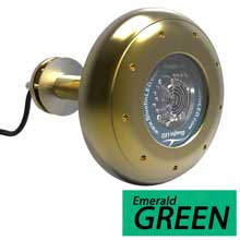 BLUEFIN Stingray s16 green through-hull underwater light