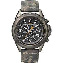 Timex Expedition rugged chronograph watch - camo/brown