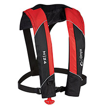 Onyx Outdoor M-24 Manual Inflatable Life Jacket PFD - Red