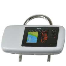 NavPod GP1040-08 systempod pre-cut f/b,g zeus touch 8, simrad nss8 mounted in center f/9.5inch  wide guard