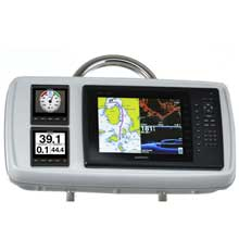 NavPod GP2170-06 systempod pre-cut f/garmin 1020/1020xs/1040xs, 2 instruments f/12inch  wide guard