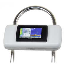 NAVPOD GP2521 systempod pre-cut f/garmin 7xx and 7x series mounted in center f/12inch wide guard