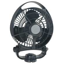 CAFRAMO Bora 748 12v 3-speed 6inch marine fan - black