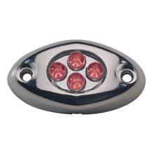 INNOVATIVE LIGHTING Surface mt courtesy light red chrome