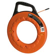 KLEIN TOOLS 100ft multi-groove non-conductive fiberglass fish