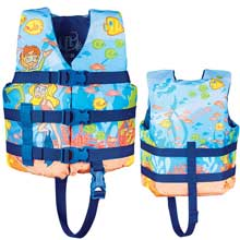 FULL THROTTLE Character life vest - child 30-50lbs - snorkle