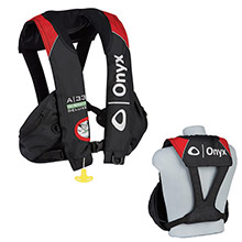 ONYX OUTDOOR A-33 In-Sight Deluxe inchTournament inch Automatic Inflatable Life Vest - Black/Red