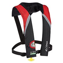 ONYX OUTDOOR A-24 In-Sight Automatic Inflatable Life Jacket - Red/Grey