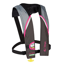 Onyx Outdoor A-24 In-Sight Automatic Inflatable Life Jacket - Pink/Grey