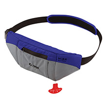 ONYX OUTDOOR M-24 Manual Inflatable SUP Belt Pack Life Jacket - Blue