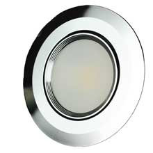 LUNASEA LIGHTING Recessed swivel light warm white polished trim