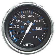 FARIA Chesapeake black ss 4inch speedometer - 60mph (mechanical)