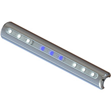 TACO Metals Led t-top light - pipe mount - white/blue leds