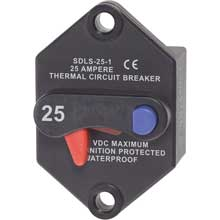 BLUE SEA 7070 klixon circuit breaker panel mount 25 amp