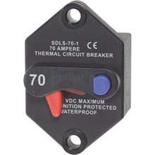 BLUE SEA 7075 klixon circuit breaker panel mount 70 amp