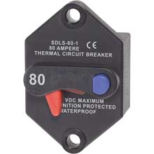 BLUE SEA 7076 klixon circuit breaker panel mount 80 amp