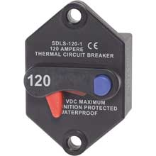 BLUE SEA 7078 klixon circuit breaker panel mount 120 amp