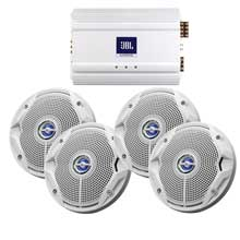 JBL Ms6520, ma6004 package 2 x 6.5inch speakers, amp