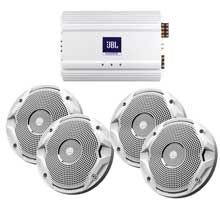 JBL Ms6510, ma6004 package 2 x 6.5inch speakers, amp