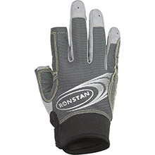 Ronstan Sticky race gloves w/3 full   2 cut fingers - grey - small