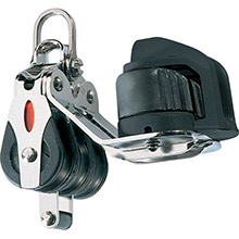 RONSTAN Series 20 ball bearing block - triple - becket - cam cleat - 2-axis shackle head
