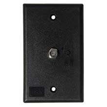 KING Jack tv antenna power injector switch plate black