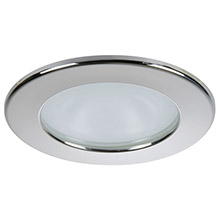 QUICK Kai xp downlight led - 4w, ip66, screw mounted - round stainless bezel, round daylight light