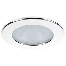 Quick Kai xp downlight led - 4w, ip66, spring mounted - round white bezel, round warm white light